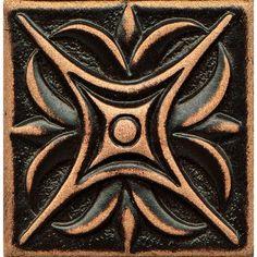 Bedrosians Ambiance x Metal Insert Rising Star Decorative Accent Tile Color: Venetian Bronze Border Tiles, Mosaic Flowers, Glazed Tiles, Bronze, Marble Art, Ceiling Medallions, Stencil Painting, Decorative Tile, Color Tile