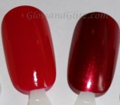 OPI: Big Apple Red (left) I'm Not Really a Waitress (right)