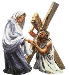 PAN JEZUS POD KRZYŻEM UPADA