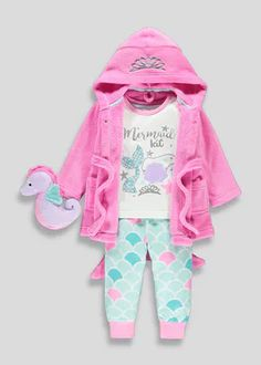 Off was now Girls Mermaid Pyjama & Dressing Gown Set Latest Fashion For Girls, Young Girl Fashion, Baby Girl Fashion, Little Girl Outfits, Kids Outfits, Baby Clothes Sale, Babies Clothes, Girls Pajamas, Outfit Sets