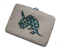 Laptoptasche Macbook 13 Erdferkel von gblook auf DaWanda.com