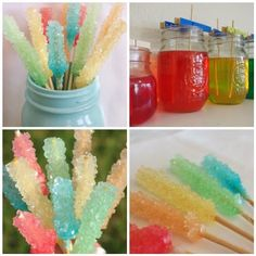 "DIY Rock Candy Idea: Wrap them and give as gifts with a tag attached saying ""you rock!"" or ""love rocks!"""