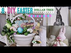 diy dollar tree easter & spring decor crafts 🐇 olivia's romantic home. Dollar Tree Decor, Dollar Tree Crafts, Diy Christmas Mantel Garland, Diy 2019, Diy Easter Decorations, Spring Crafts, Decor Crafts, Hanger Crafts, Home