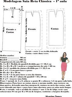 Costura e Modelagem Baby Girl Dress Patterns, Dress Sewing Patterns, Sewing Hacks, Sewing Tutorials, Pattern Draping, Blazer Pattern, Fashion Design Sketches, Pattern Cutting, Fashion Sewing