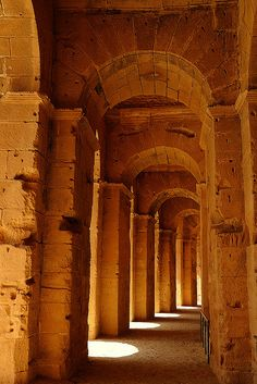 Roman El-Jem Colosseum, Tunisia ~ The third largest colosseum ever built by the Romans ~ UNESCO World Heritage Site. Photo: iancrowe via Flickr