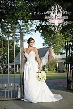 Bridal portrait.  Classic summer wedding.   Photography by Andie Freeman Photography www.TheAthensWeddingPhotographer.com Planning and Coordinating by Wildflower Event Services www.WildflowerEventServices.com Venue and Floral:  The Thompson House and Gardens, Athens, GA