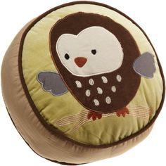 "Amazon.com: Carter's Forest Friends Throw Pillow, Tan/Choc, 12"" X 12"" X 3"": Baby"