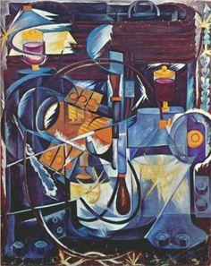 Dynamo machine  Artist: Natalia Goncharova  Completion Date: 1913  Style: Cubo-Futurism  Genre: still life