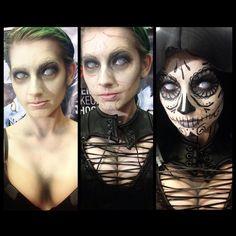 "Amanda Lynne on Instagram: ""Progress of the Mistress Death makeup by the wonderful @jasonadcock78 for @cinemamakeupschool."""