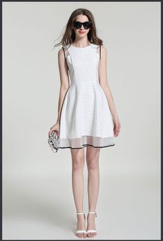 Find More Dresses Information about Striped dress stitching,High Quality dresses for engagement party,China stitching frock Suppliers, Cheap stitch bra from Moncloth show on Aliexpress.com