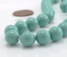 Perles Swarovski Perle, Seafoam Jade cristal 10mm 10 perles rondes