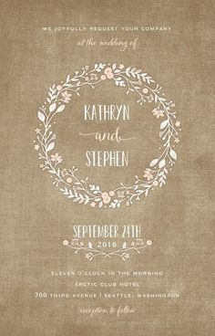 Looking for some fun and creative invitations for your rustic wedding? We have 32 Rustic Wedding Invitations that are sure to inspire you! Wedding Invitation Samples, Rustic Invitations, Wedding Stationary, Bridal Shower Invitations, Invitation Design, Invites, Invitation Templates, Wedding Paper Divas, Wedding Cards