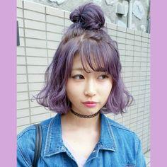 むらさきまん #Embellir#megumiKIDS#ラベンダーアッシュ #ラベンダー#hair#haircolor #ハイトーン#ブリーチ#ダブルカラー#外国人風カラー #派手髪 #美容師#天神美容室#福岡美容室#カラーバター#ヘアアレンジ#ヘアセット#hairarrange#NYLON#zipper#LARME#fancy#girly#followme