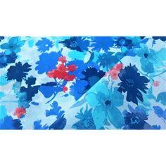 Bawełna Malowane kwiaty