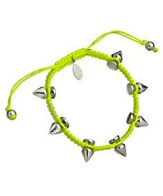 Devora Libin Jewels Phoebe Fluorescent Yellow Spike Row Bracelet NEED IN MY LIFE!