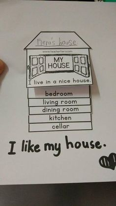 I love my house, Teach English To Kids, English Worksheets For Kids, English Games, English Resources, English Activities, English Fun, School Worksheets, English Class, English Lessons