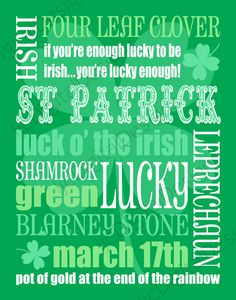 St Patrick's Day~when everyone is Irish!