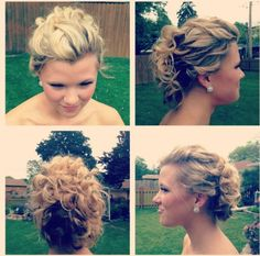 Prom hair #updo #curls