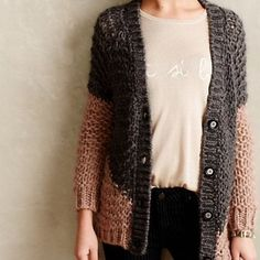 "Anthropologie Apex Colorblock Cardigan By Moth// mohair - polyamide// button front// hand wash// Length: 24.5""// EUC Anthropologie Sweaters Cardigans"