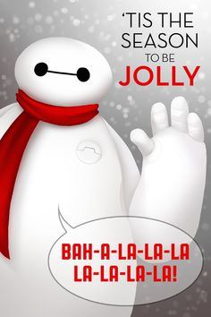 Adorable Holiday Baymax Big Hero 6 Christmas Card