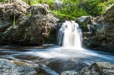 A waterfall in Mill Creek Regional Park near Kelowna, BC -- Curated by Misfeldt Accounting Photography Tours, Amazing Photography, Learn Photography, Mountain Park, Small Waterfall, Les Cascades, Natural Park, Photography For Beginners, Great Places