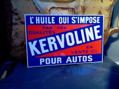 Talbot - Michelin - Kervoline - metalen reclame / garageborden - Catawiki