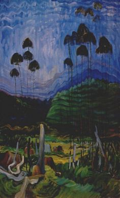 """Emily Carr Canadian 1871 - 1945 """"Trees in the Sky, c1939"""""""