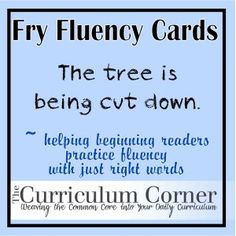 Fry word fluency sentences for the 2nd hundred words free from The Curriculum Corner