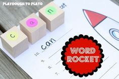 A fun way for children to practice sounding out and writing words as they count down from 10 to Takeoff.