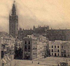 Sevilla. Plaza de la Constitución (S.Francisco), año 1918. Solar de El Banco de España