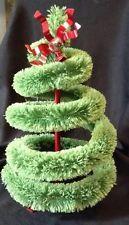 Vintage Bottle Brush Christmas Tree Swirled Unusual Style