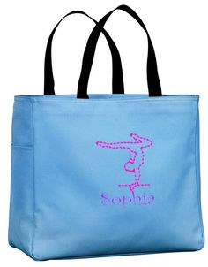 Personalized Embroidered Gymnastics Sport Essential Tote Bag CSB0750GY-CH  #ALLABOUTMECOMPANY #DuffelBags