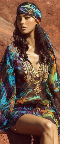 An American Girl.. Boheme Gypsy Spirit: Zeugari Kaftan. #LadyLuxuryDesigns.