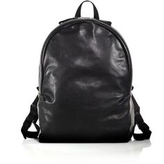 Alexander McQueen Studded Leather Backpack (134.410 RUB) ❤ liked on Polyvore featuring men's fashion, men's bags, men's backpacks, apparel & accessories, black, mens backpack and mens leather backpack