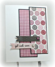 Simple card Pretty Cards, Cute Cards, Diy Cards, Scrapbooking, Scrapbook Cards, Copic, Get Well Cards, Card Sketches, Sympathy Cards