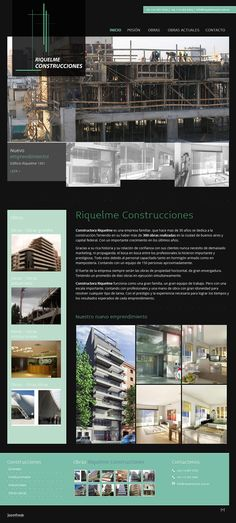 Sitio web Riquelme Construcciones (Constructora)  - Diseño y Desarrollo: http://integralmedia.com.ar