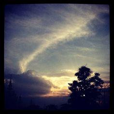 sky in Chiang rai ,Thailand
