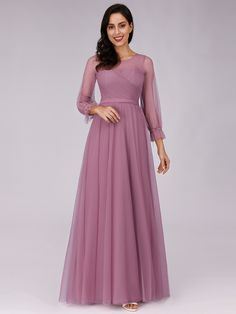 Ever-Pretty Long Formal Prom Dresses Sleeves Bridesmaid Cocktail Ball Gowns , Vintage Clothing Styles, Vintage Style Outfits, Evening Dresses, Prom Dresses, Formal Dresses, Wedding Dresses, Formal Prom, Tulle Bridesmaid Dress, Ever Pretty