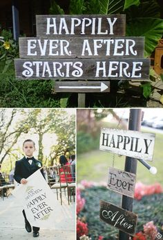 Fairytale Weddings - Happily Ever After signs. #bridal #KendraScott