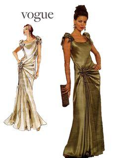 Vogue 1015 Bellville Sassoon Draped & by DesignRewindFashions, $20.00