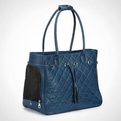 20 Smart and Stylish Pet Carriers via Brit + Co. Zack and Zooey Vineyard Quilted Dog Carrier
