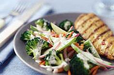 One of my favorite salads! I've been making this one for years. I substitute a pack of stevia for the sugar.