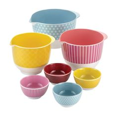 Cake Boss Countertop Accessories 7-Piece Melamine Mixing and Prep Bowl Set * Additional details at the pin image, click it : Baking mixing bowls