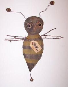 Primitive Bumble Bee Door Hanger By Countryhillprims On Etsy 2800