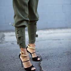 The pants, the shoes