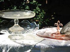 vintage cake plate, vintage cakestand, vintage rentals, vintage wedding rentals