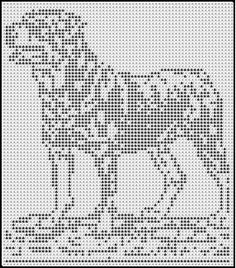 rottweiler for crochet, but could easily translate for counted cross stitch Filet Crochet, Crochet Chart, Thread Crochet, Crochet Motif, Cross Stitch Fabric, Cross Stitching, Cross Stitch Embroidery, Embroidery Patterns, Cross Stitch Patterns