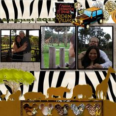 Animal kingdom kids scrapbook, travel scrapbook, scrapbook page layou Album Scrapbook, Vacation Scrapbook, Recipe Scrapbook, Disney Scrapbook Pages, Kids Scrapbook, Scrapbook Sketches, Scrapbook Page Layouts, Scrapbook Paper Crafts, Scrapbooking Ideas