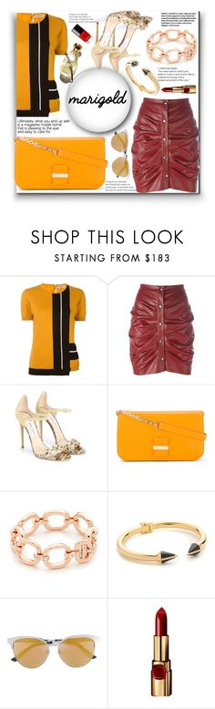 """""""Dressing in Marigold!!"""" by stylediva20 on Polyvore featuring N°21, Étoile Isabel Marant, Jimmy Choo, See by Chloé, EF Collection, Vita Fede, Gucci and L'Oréal Paris"""