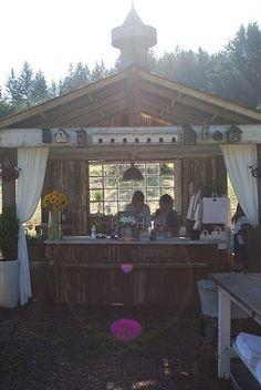 drapery for shed via barn house